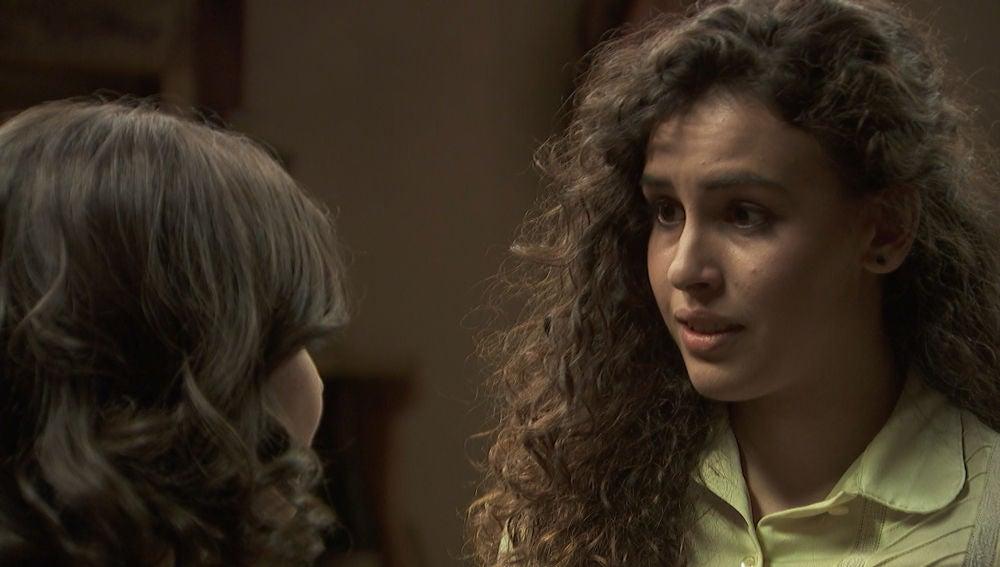 Lola Mendaña y Marcela en 'El secreto de Puente Viejo'