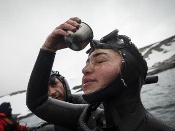 Sahika Ercumen, en un reto en la Antártida en 2019
