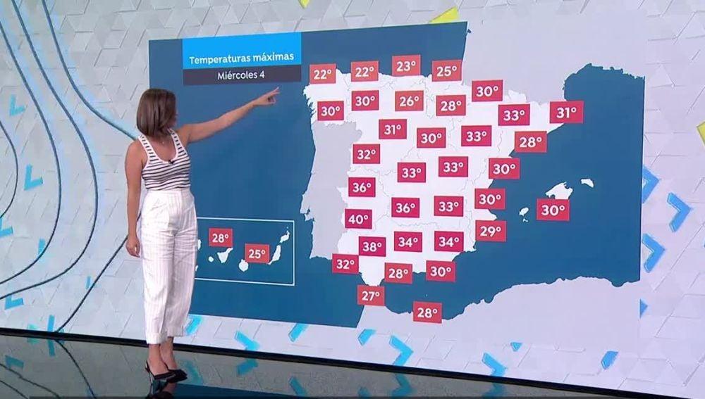Desplome de las temperaturas en todo el país con riesgo de precipitaciones