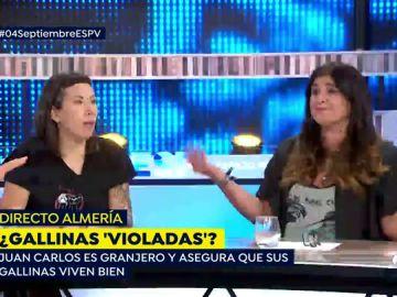 Rifirrafe entre Fanny de 'Almas veganas' y Juan Carlos, granjero