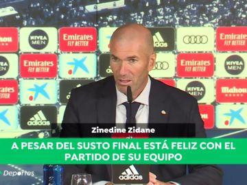 """Zinedine Zidane con buenas sensaciones: """"Conseguimos tres puntos con juego, goles y entrega"""""""