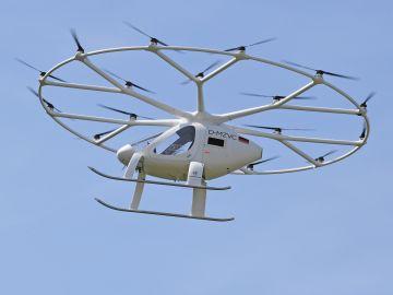 Volocopter prueba su prototipo de taxi volador en zona urbana de Alemania
