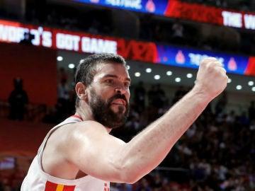 Marc Gasol, con España