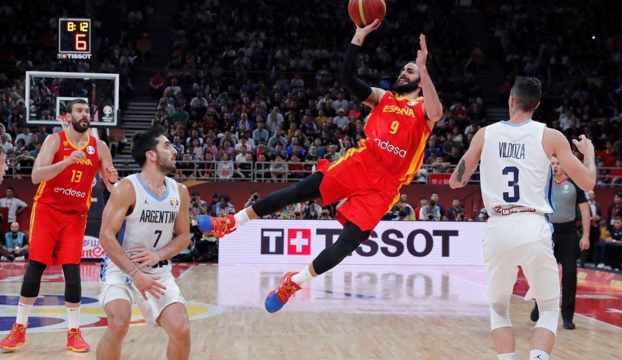 Ricky Rubio durante la final del Mundial de Baloncesto