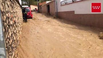 Arganda del Rey vuelve a sufrir las consecuencias de la DANA con una gran tormenta