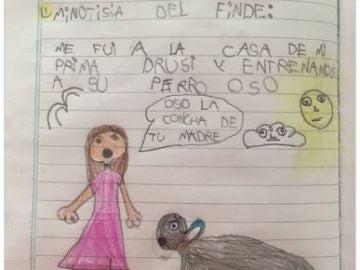 La noticia periodística de una niña de seis años