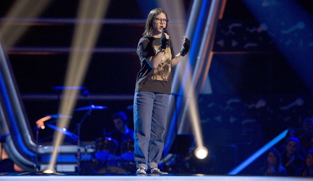 Sofía Esteban canta 'Miss celie's blues' en las Audiciones a ciegas de 'La Voz Kids'