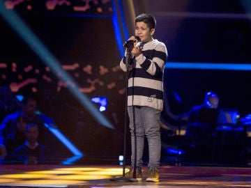 Levi Díaz canta 'We've only just begun' en las Audiciones a ciegas de 'La Voz Kids'