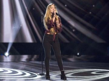 Malu Salgado canta 'Russian roulette' en las Audiciones a ciegas de 'La Voz Kids'