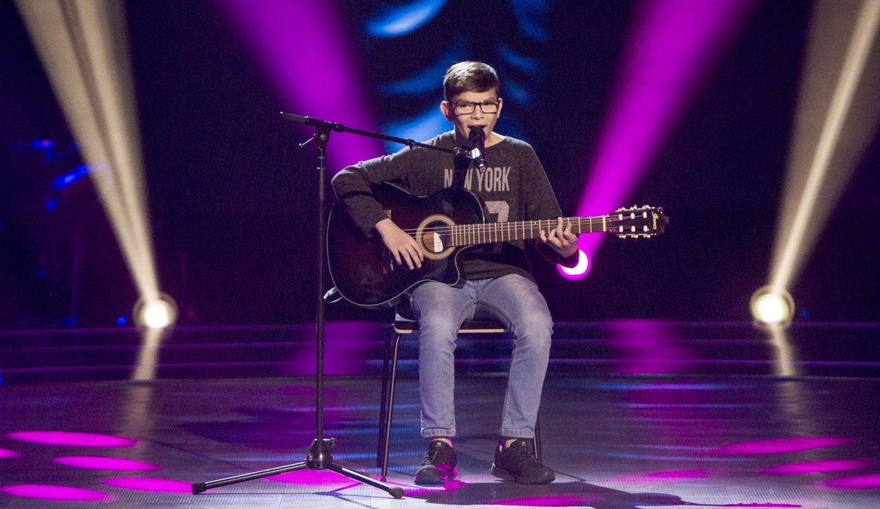 Salvador Bermúdez canta 'Al alba' en las Audiciones a ciegas de 'La Voz Kids'