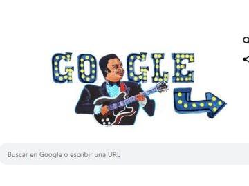 'Doodle' de Google en honor al 'Rey del Blules'