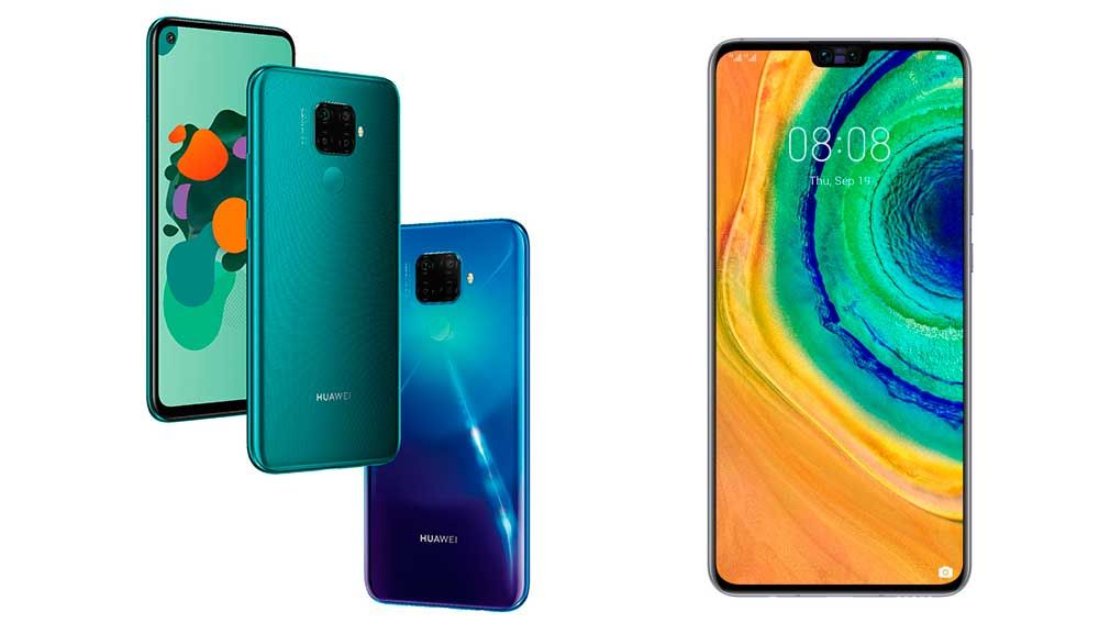 Huawei Matel 30 Lite y Mate 30