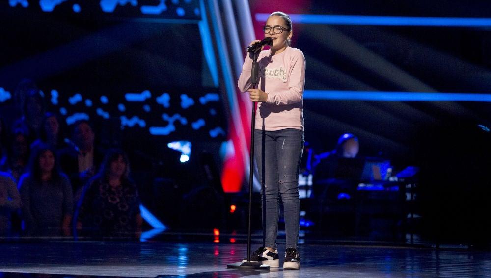 Paloma Puelles canta 'Lucía' en las Audiciones a ciegas de 'La Voz Kids'