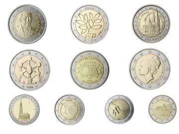 Monedas conmemorativas de dos euros