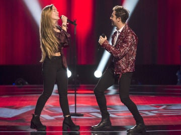 David Bisbal y Malu Salgado cantan 'Hate that I love you' en las Audiciones a ciegas de 'La Voz Kids'