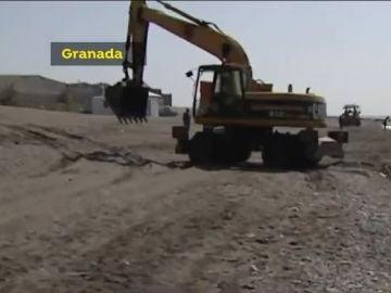 Playa de Granada tras el temporal