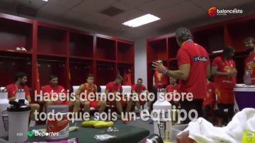 El sentido discurso de Scariolo que conmovió a toda la selección española