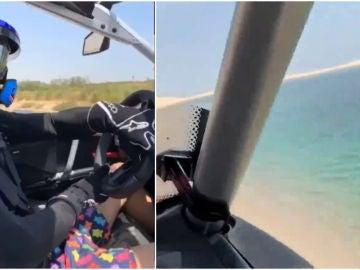 Fernando Alonso pilotando en Qatar