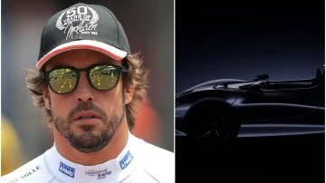Fernando Alonso y el nuevo McLaren de calle