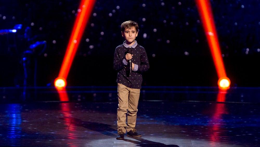 Daniel García canta 'El patio' en las Audiciones a ciegas de 'La Voz Kids'