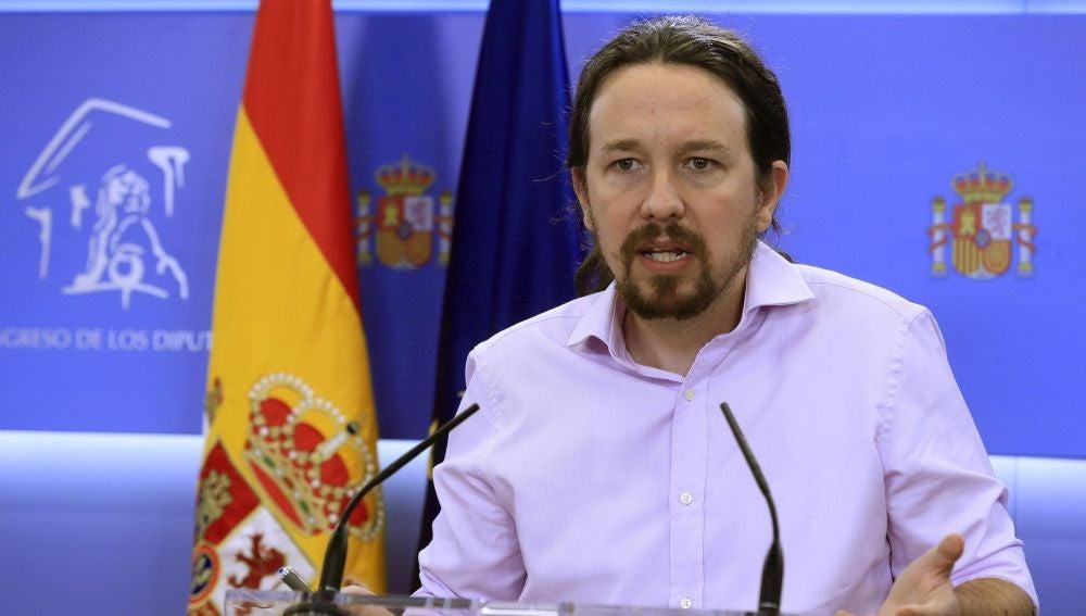 El líder de Unidas Podemos Pablo Iglesias