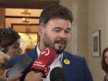"""Rufián sobre Urdangarin: """"Quizá le dan dos días para jugar al pádel"""""""