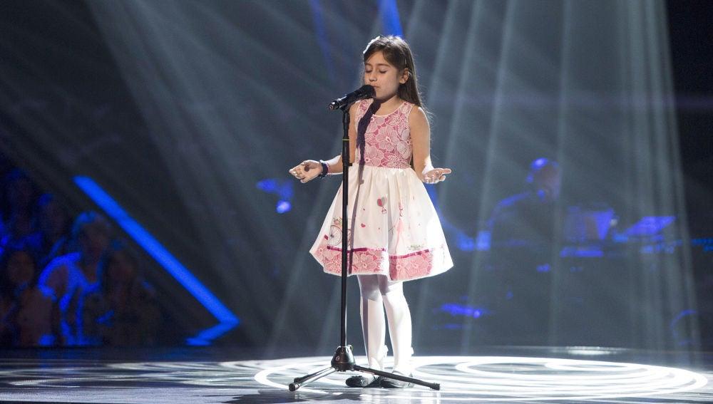 Alison Fernández canta 'Ahora tú' en las Audiciones a ciegas de 'La Voz Kids'