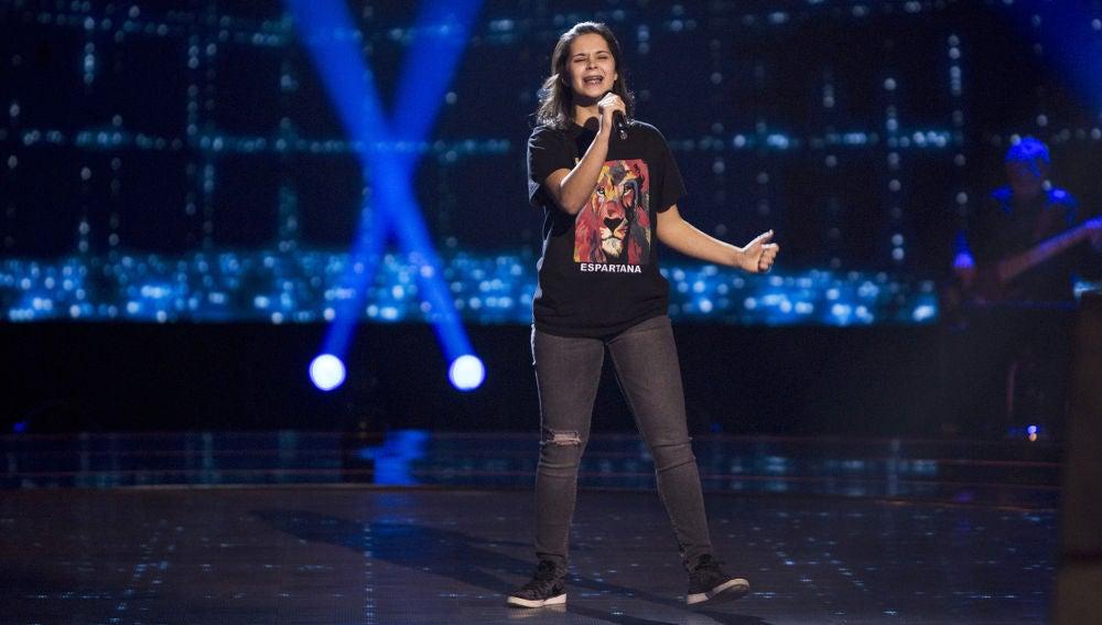 Beatriz Martínez canta 'Friends will be friends' en las Audiciones a ciegas de 'La Voz Kids'