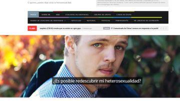 La web que ofrecía curar la homosexualidad