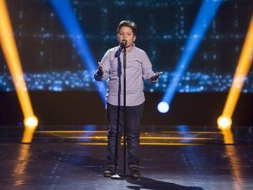 Juan Manuel Segovia canta 'Pena, penita, pena' en las Audiciones a ciegas de 'La Voz Kids'