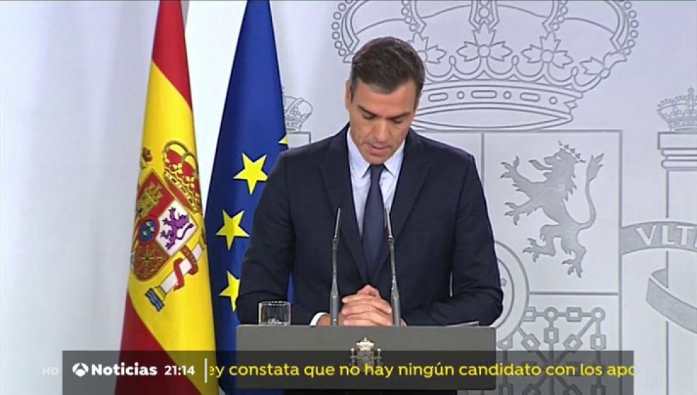 Los argumentos de Pedro Sánchez para ir a elecciones el 10 de Noviembre