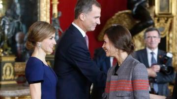 La reina Letizia junto a su estilista, Eva Fernández