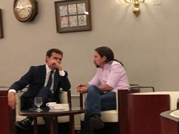 Albert Rivera y Pablo Iglesias en el Congreso