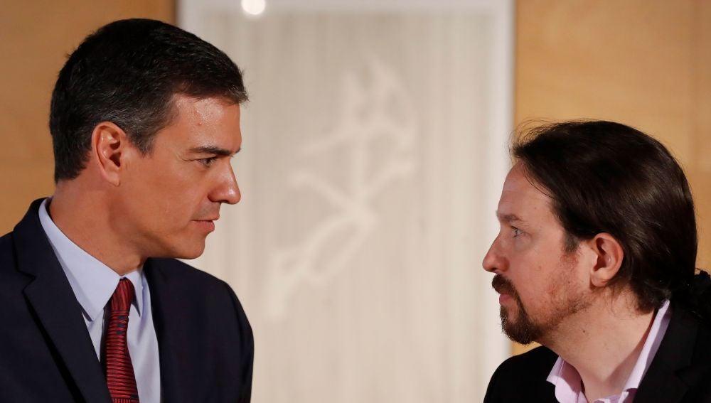 Iglesias y Sánchez, cara a cara