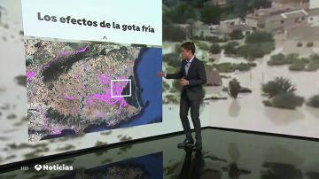Los mapas que advertían de las inundaciones en España