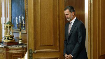 El rey Felipe VI ayer en el palacio de la Zarzuela.