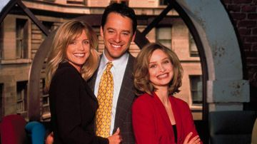 Calista Flockhart y Gil Bellows en 'Ally McBeal'