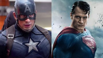 Capitán América (Chris Evans) y Superman (Henry Cavill)