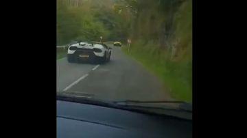 Carrera ilegal de Lamborghinis