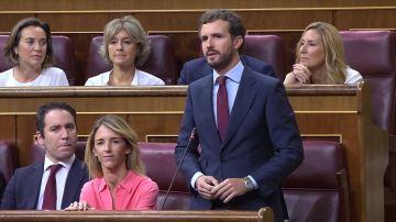 """Casado a Sánchez: """"en las próximas elecciones estaremos a la altura para recuperar el rumbo de una nación que le queda grande"""""""