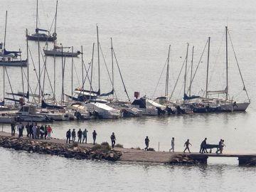 Operaciones de rescate en el Mar Menor