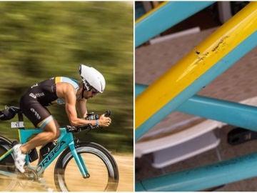A un triatleta le indemnizan con 50 euros tras romperle la bicicleta