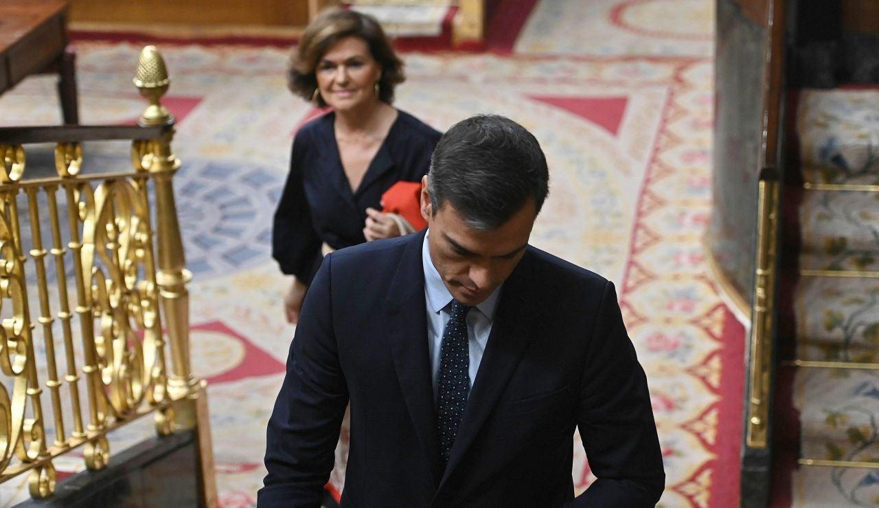 Pedro Sánchez, en el último día de pleno en el Congreso