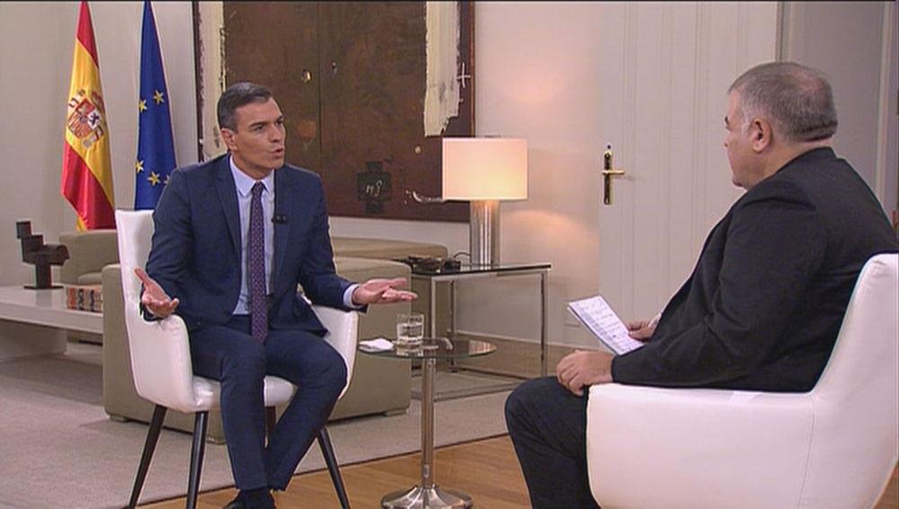 Pedro Sánchez y García Ferreras en Moncloa