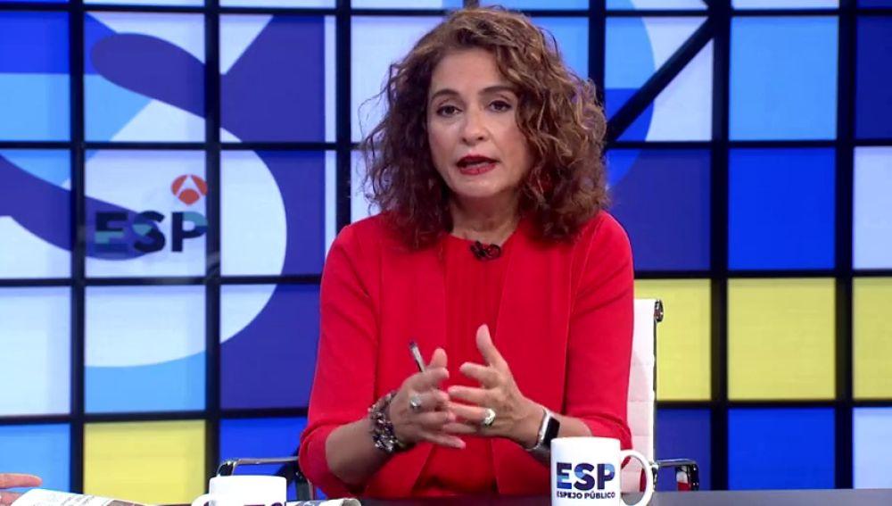 """María Jesús Montero: """"El PP tenía que haberse abstenido para que Sánchez gobernara"""""""