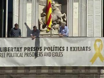 Nuevo ultimátum a Torra para que retire la pancarta de apoyo a los presos del 'procés'