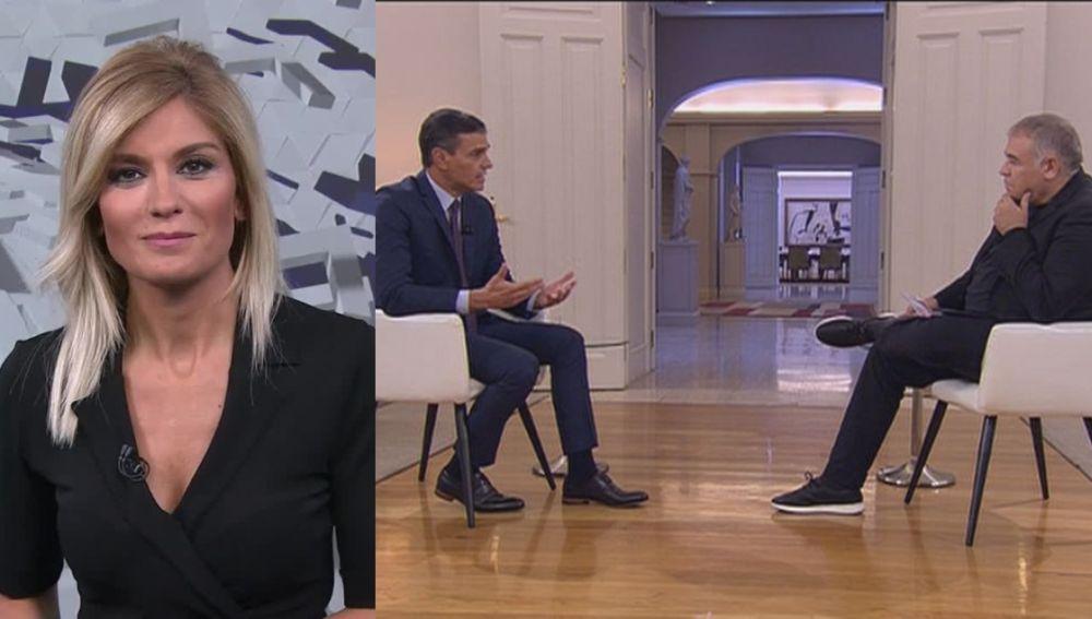 Antena 3 Noticias 1 y la entrevista a Pedro Sánchez