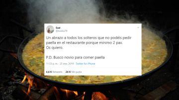 Tuits sobre paella