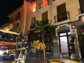 Incendio en una vivienda del barrio de Lavapiés