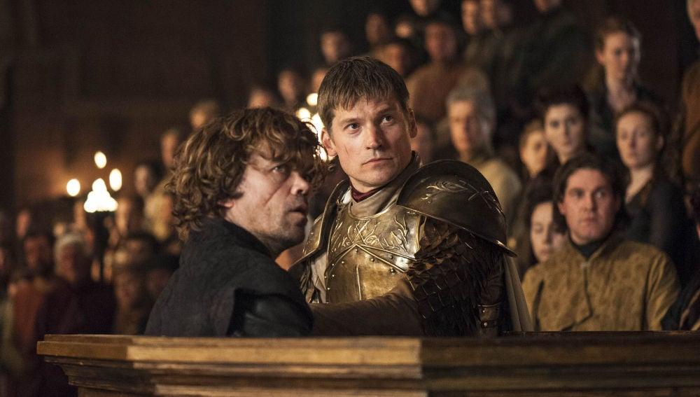 Nikolaj Coster-Waldau y Peter Dinklage, como Jaime y Tyrion Lannister en 'Juego de Tronos'